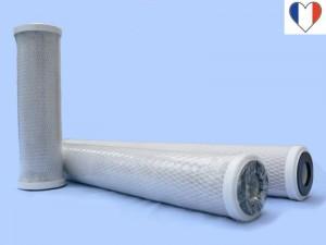 Filtre charbon actif extrudé taille 9 pouces 3/4 5 microns - Entre2-eaux