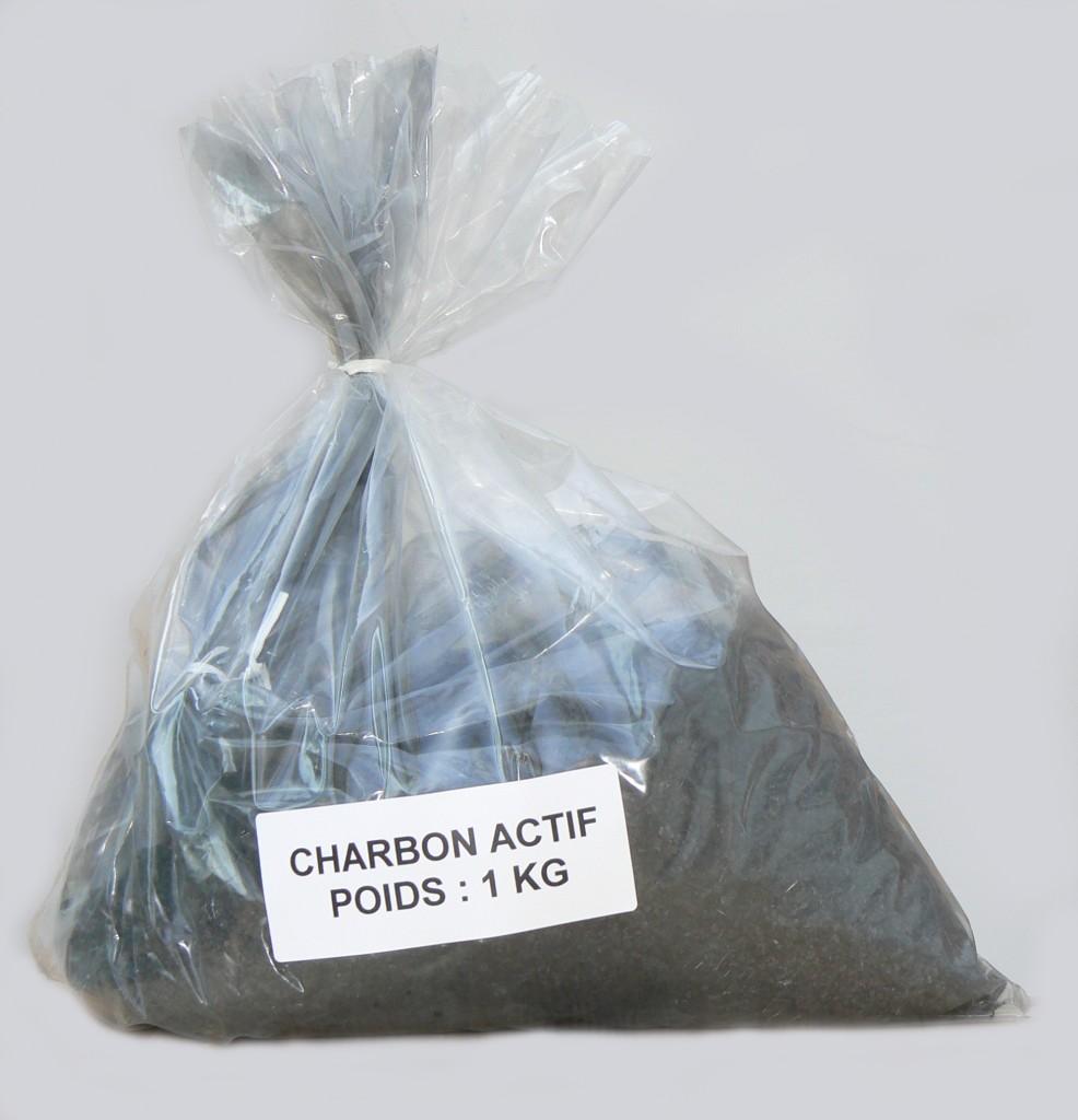 Charbon actif en grain en vrac sac de 1 Kg - Entre2-eaux