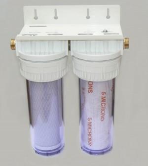 Kit Double effet pour filtration taille 9 pouce 3/4 - Entre2-eaux