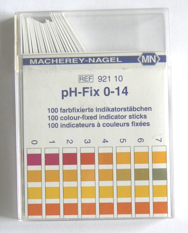 Bandelettes testeur de Ph 0-14 - Entre2-eaux