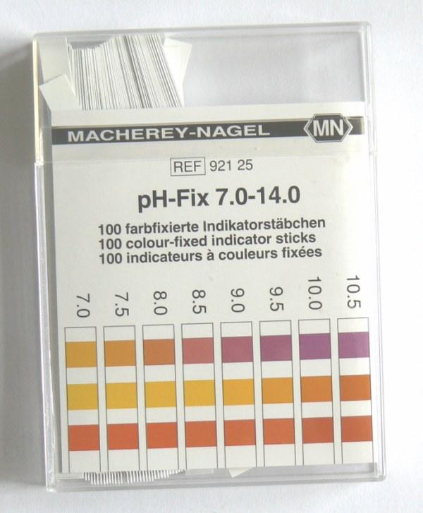 bandelettes testeur de Ph 7-14 - Entre2-eaux